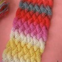 席纹花针法 围巾编织 织围巾视频 第25集  棒针花样围巾花样