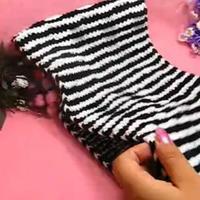 隐绘花纹 织围巾视频 第33集 棒针花样围巾花样