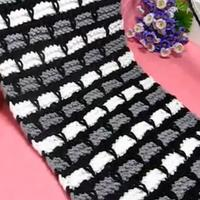 黑白灰长方格围巾 情侣围巾男士围巾织法 第34集 棒针花样围巾花样