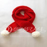云宝宝婴幼儿钩针圣诞围巾的编织视频 圣诞套装(2)编织人生视频学堂