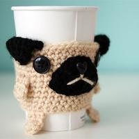 少量毛线巧手编织趣味茶杯茶壶套 零线创意编织