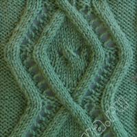 棒针编织花样之双菱形花