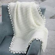 送给老公的normcore风格毯子 浮纹花样钩针毯子