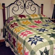 经典拼布风格经典祖母方格构成的毯子 玩转经典花样