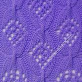 棒针镂空花纹与斜纹花