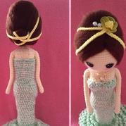 海绵与羊毛毡DIY娃娃发型(6)毛线玩偶头发制作教程