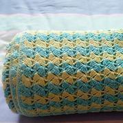 毯子控的手艺之一兰蔻若白 拼色镂空钩花毯