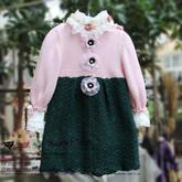 裙式外套(5)女童钩织结合七分袖裙式毛衣编织视频教程