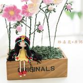 新妈咪手作格桑花花束制作(2-1)钩针花仙子系列摆件
