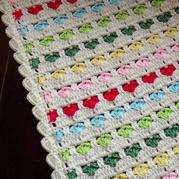 心心毯 寓意多多的钩针配色爱心毯