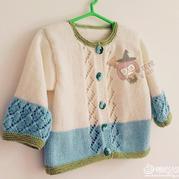 萌芽 羊毛棉棒针宝宝中性开衫