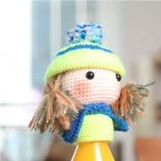 萌萌暖暖的戴帽子娃娃玩偶钩法图解教程