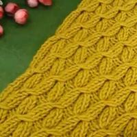四叶幸运花围巾织法视频 第76集  棒针花样围巾花样