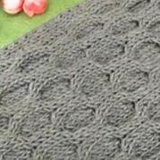 圆圈花样 编织男士围巾视频 第78集 棒针花样围巾花样