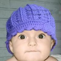 钩针紫色宝宝帽的钩法视频教程