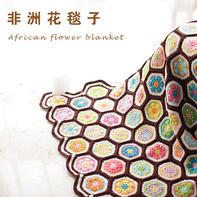 非洲花钩针拼花毯(上集)花片编织的视频教程