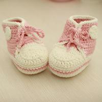 高帮运动鞋(5-3鞋头与鞋舌)婴幼儿钩针球鞋宝宝钩鞋详细视频教程