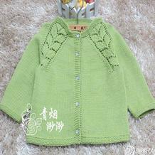 抹茶 从上往下织萌芽棒针幼童开衫