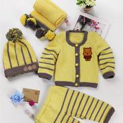 开衫衣片的缝合(6-3)宝宝棒针服饰四件套套装视频教程