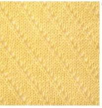 棒针编织镂空倾斜花样