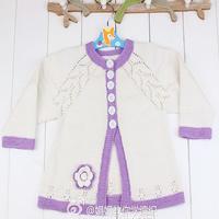 郁金香长袖开衫毛衣(4-3)简单易学零基础教你织宝宝毛衣视频教程