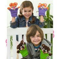 和孩子们一起游戏 钩针可爱游戏玩偶手套动物手套