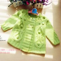 小宝宝口袋大衣 婴幼儿粗针织棒针羊毛大衣