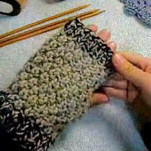 男女老幼皆适用的棒针无指手套的织法视频教程