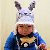 钩针龙猫护耳帽(2) 宝宝钩针毛线帽编织视频教程