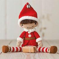 穿圣诞装的男孩  超级可爱钩针娃娃图解翻译教程