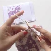 棒针提花编织的四种压线方法 棒针技巧视频教程