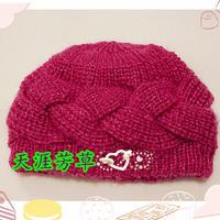 简单易织的棒针辫子式帽子