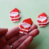 折纸大全之圣诞老人造型的折法图解教程