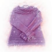 紫衣 钩针堆堆领长袖春秋罩衫