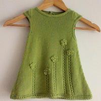 抹茶公主 萌芽1-2岁盖袖棒针婴幼儿小裙子