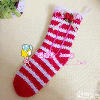 钩针圣诞袜编织说明 圣诞风格编织物