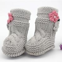 手工编织宝宝毛线高筒靴 温暖牌宝宝靴子编织视频教程