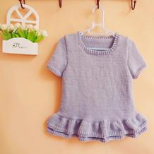 袖子领子的编织方法 简单易学宝宝棒针短袖连衣裙编织视频(2-2)