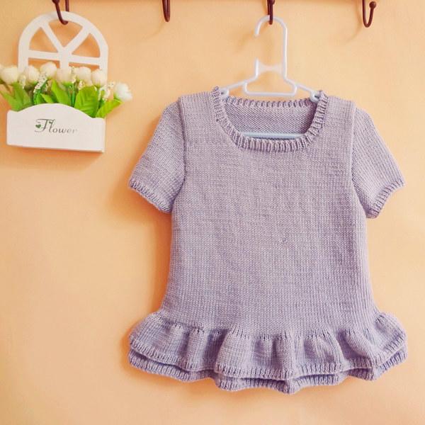 袖子领子的编织方法 简单易学宝宝棒针短袖