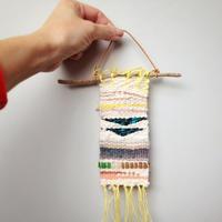 不需棒针钩针纵横交错编织出的毛线创意