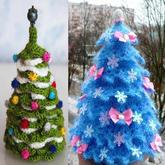 一根针轻松钩编梦幻甜点风圣诞树装饰