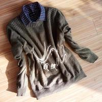 暖冬 仿淘宝男士套头衫小圆领棒针男式毛衣