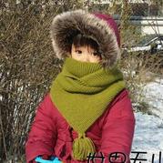 温暖的围脖 实用且织法简单的宝宝棒针斗篷式围脖