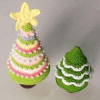 两款钩针圣诞树钩法文字图解