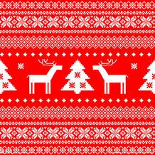 圣诞节编织 麋鹿圣诞树提花图案