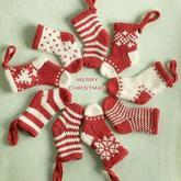 圣诞节编织之圣诞袜编织欣赏