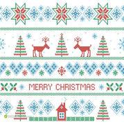 圣诞节编织 多彩圣诞提花编织