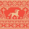 圣诞编织 麋鹿雪花提花图案