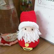 马上圣诞啦,钩一个萌萌哒圣诞老人