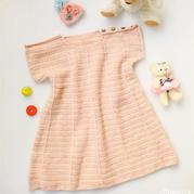 粉色钩裙 金羊钩针宝宝羊驼羊毛肩开扣连衣裙